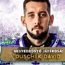 Duschek Dávid a negyeddöntő legjobb játékosa